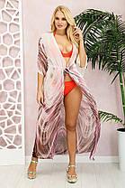 Красивая  длинная пляжная туника из шифона  с принтом Лео с 42 по 48 размер, фото 3