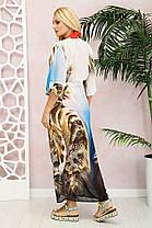Элегантная  длинная пляжная туника из шифона  с принтом с 42 по 48 размер, фото 2