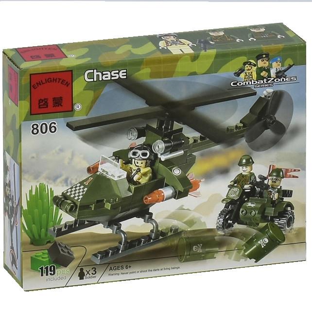 Конструктор Enlighten Combat Zones Вертолет 119 дет. (806)