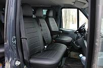 Чехлы на сиденья Фиат Дукато (Fiat Ducato) 1+2  (универсальные, кожзам+автоткань, с отдельным подголовником)