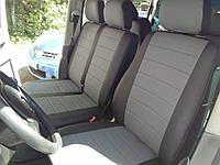 Чехлы на сиденья Фиат Дукато (Fiat Ducato) 1+2  (модельные, экокожа+Алькантара, отдельный подголовник), фото 1