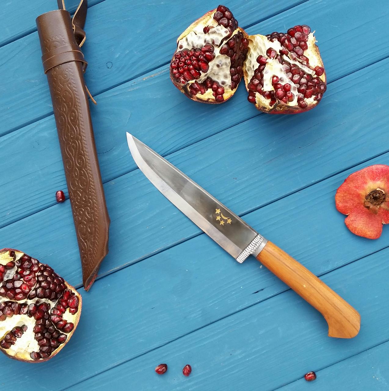 Узбекский классический нож с рукоятью из дерева