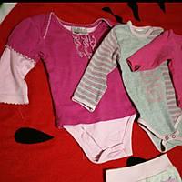 Комплект, пакет вещей на младенца 3-6 месяцев , бодик, ползунки,кофточка
