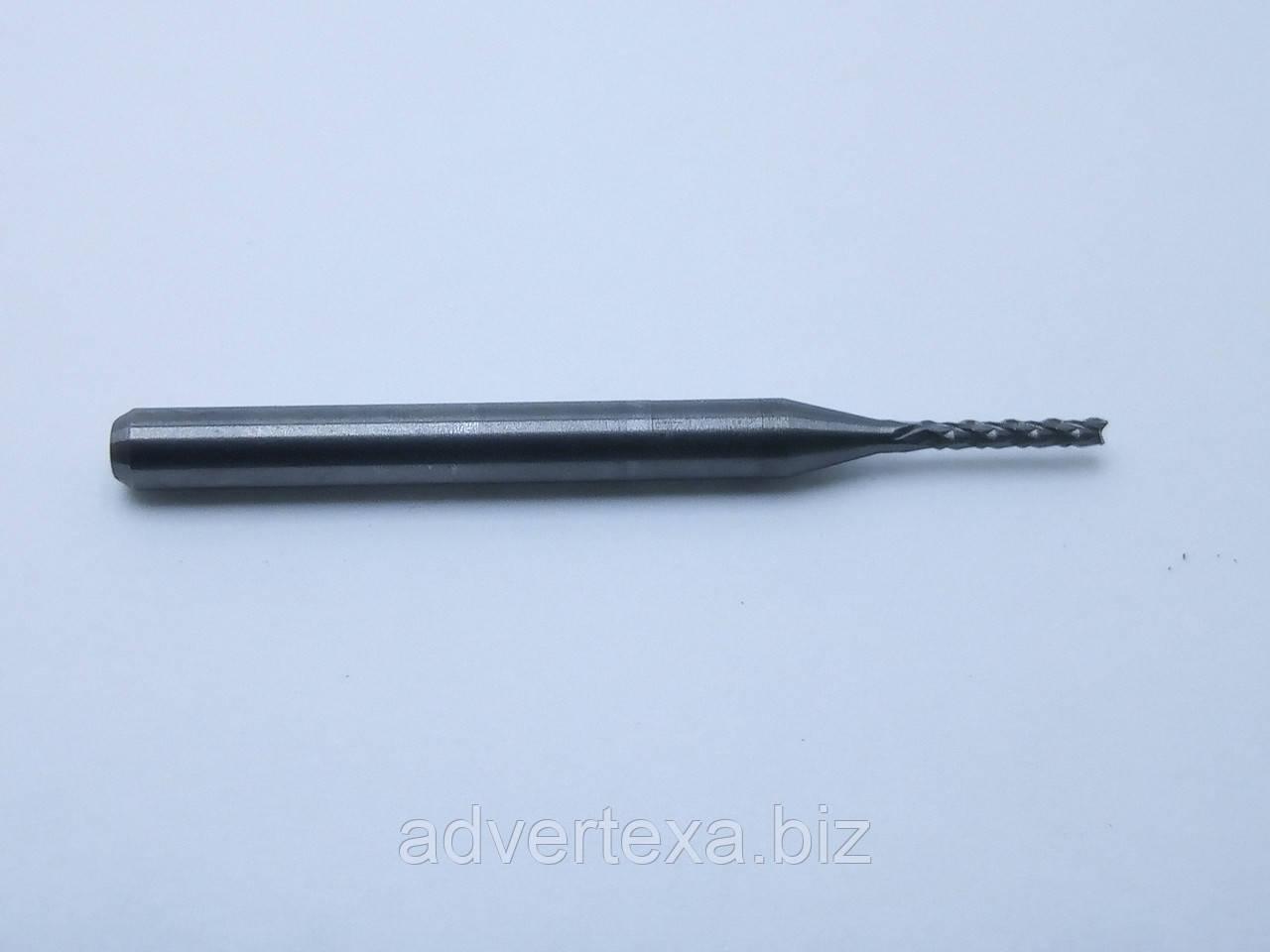 Фреза 1.2 мм 3.175 мм из вольфрамовой стали с общей длиной 36 мм для гравировки на ЧПУ станках CNC