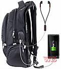 Рюкзак Winner подростковый с USB черный , фото 2