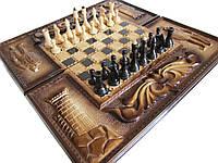 Игра настольная шахматы, шашки, нарды, фото 1