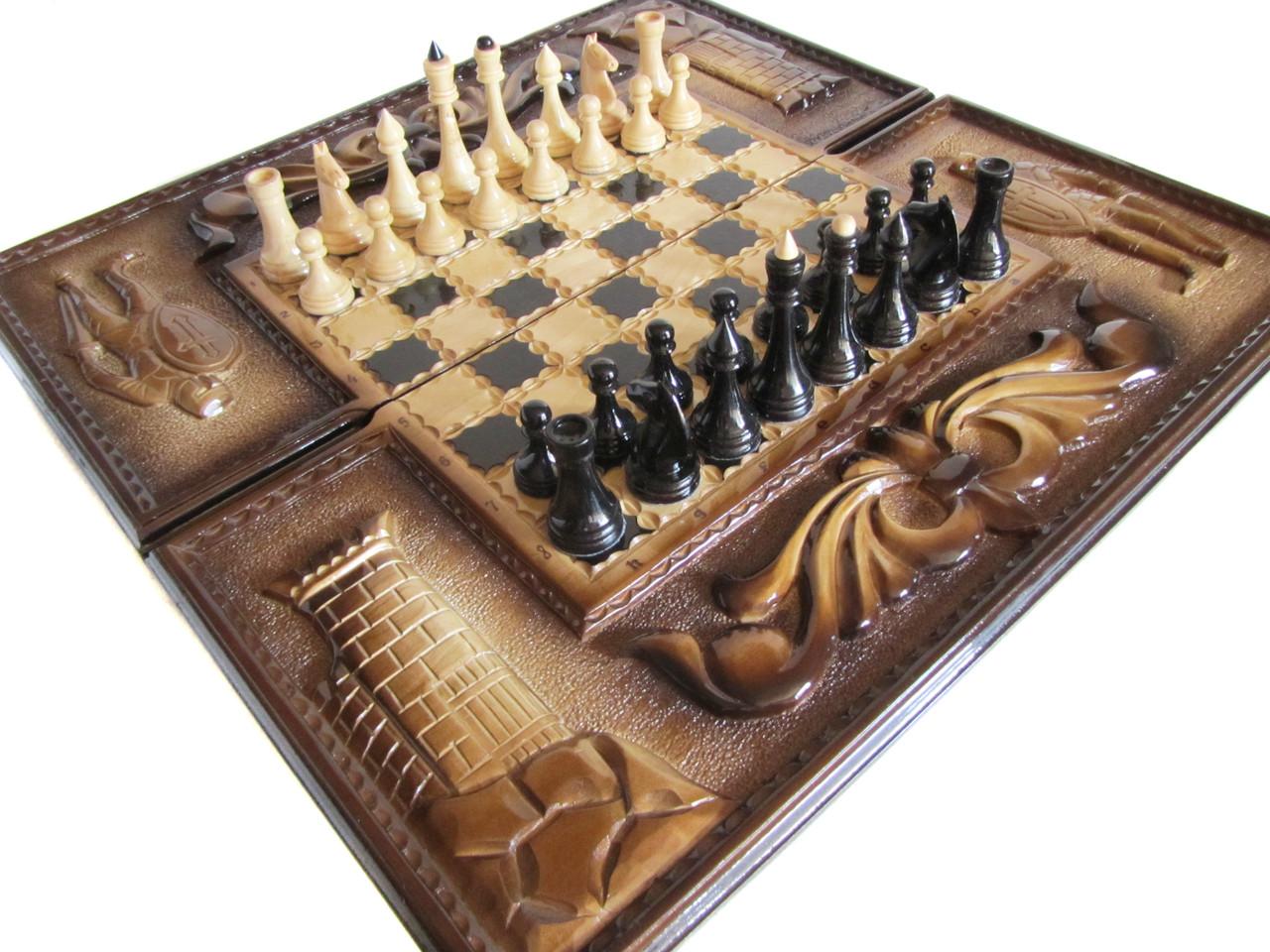 Игра настольная шахматы, шашки, нарды