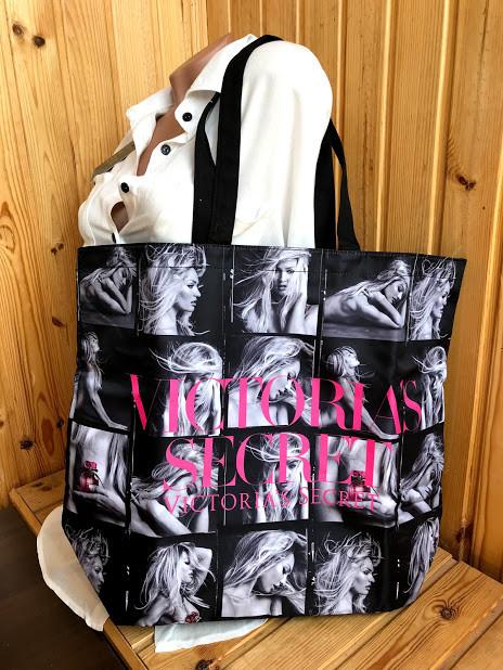Сумка большая пляжная женская черная Victoria's Secret 1758
