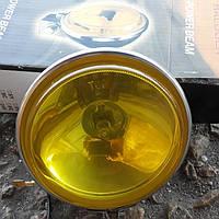 Фары противотуманные хромированные №204 желтое стекло., фото 1