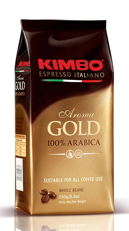 Кофе в зернах KIMBO AROMA GOLD 100% ARABICA , 1кг.  Италия