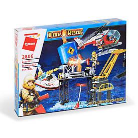 """Конструктор Qman """"Пожежний вертоліт і катер"""" 321 дет. (2806)"""