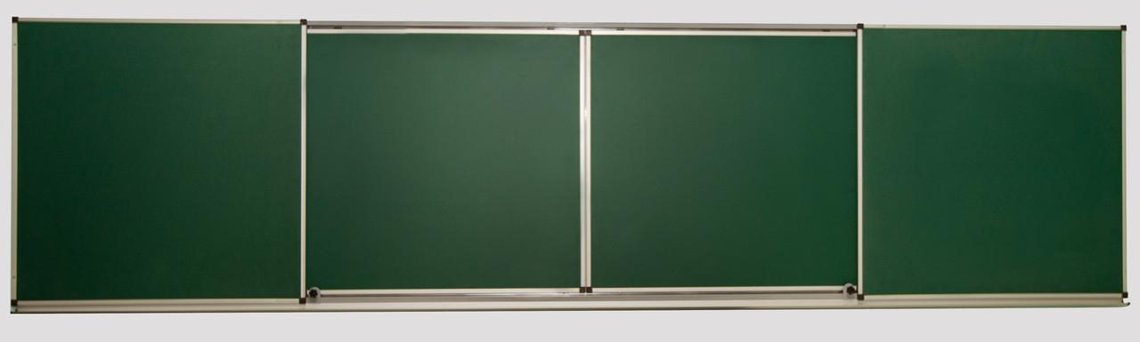 Доски 5-поверхностные: меловые, маркерные, комбинированные, раздвижные – 3000x1000 мм, фото 1