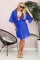 Пляжная женская туника   из шифона  с 50 до 56 размер, фото 2