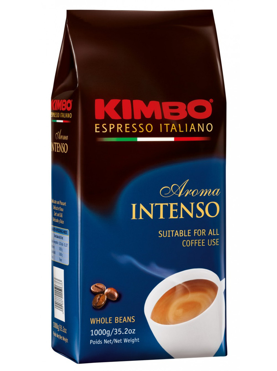 Кофе в зернах KIMBO AROMA INTENSO, 1кг.  Италия