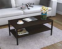 Журнальний стіл у вітальню L-1 Loft Design Чорний Матовий / Венге Корсика