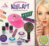 Детский набор Модницы 87028 маникюрный набор, мелки для волос, лампа для сушки лака, расческа, блеск для губ