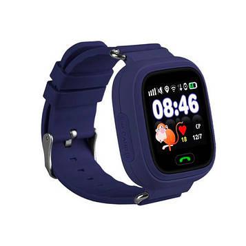 Детские часы с GPS Smart Baby Watch 100 (Q90) Темно-cиние