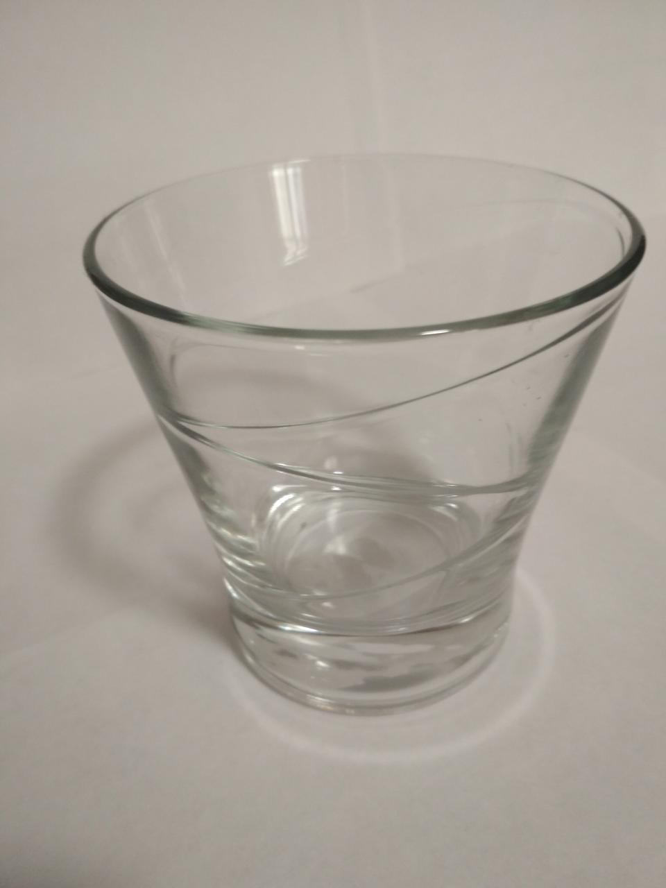 Стакан низкий 200 мл конус стеклянный для коньяка, виски  UniGlass