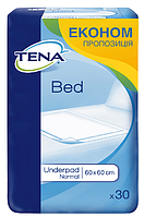 Одноразовые пеленки впитывающие Tena Bed Normal 60x60 (30шт.)