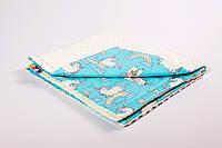 Плед детский плюшевый BabySoon 78х85см Сказочные лошадки с плюшем молочного цвета, фото 1