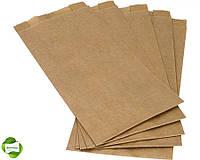 Бумажные пакеты крафт 220мм*60мм*340мм бурые