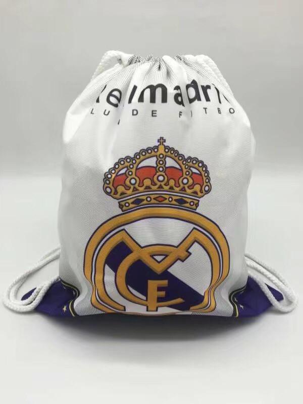 Рюкзак-мешок для хранения и переноса вещей Реал Мадрид, белый