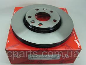 Диск гальмівний передній вентильований Renault Duster 1.5 DCi, 1.6 16V (4x4)(TRW DF6072)(висока якість)