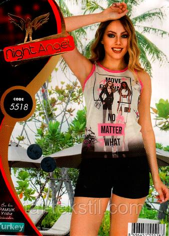 Пижама с шортами комплект Night Аngel № 5518, фото 2