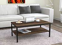 Журнальний стіл у вітальню L-1 Loft Design Чорний Матовий / Горіх Модена