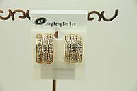 Серьги из ювелирной бижутерии с кристаллами оптом. 1721