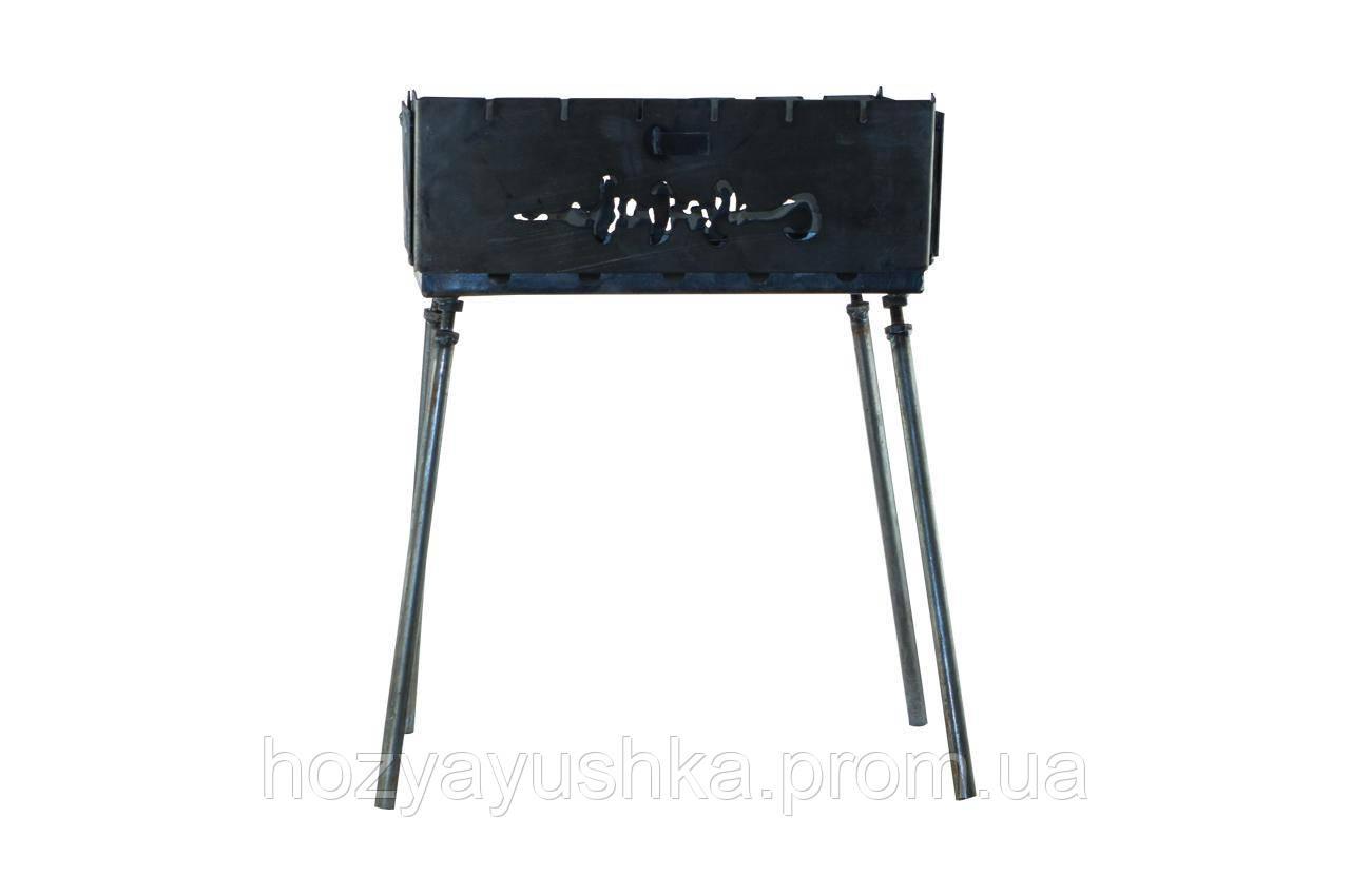 Мангал-чемодан DV - 6 шп. x 1,5 мм (горячекатаный) Х005
