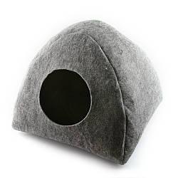 Домик для кошки Digitalwool Палатка с подушкой Серый (DW-91-03)