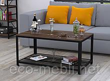 Журнальний стіл у вітальню V-105 Loft Design Чорний Матовий / Горіх Модена