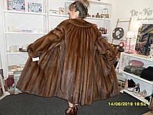 Шикарна норкова шуба батал колір соболь натуральна норка шуба з норки 52 54 розмір