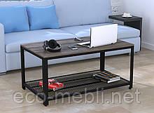 Журнальний стіл у вітальню V-105 Loft Design Чорний Матовий / Дуб Палєна