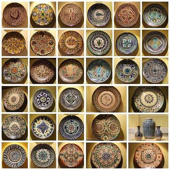 Узбецькі Ляганы (тарілки) з Риштанской кераміки