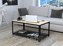 Журнальний стіл у вітальню V-105 Loft Design Чорний Матовий / Дуб Борас