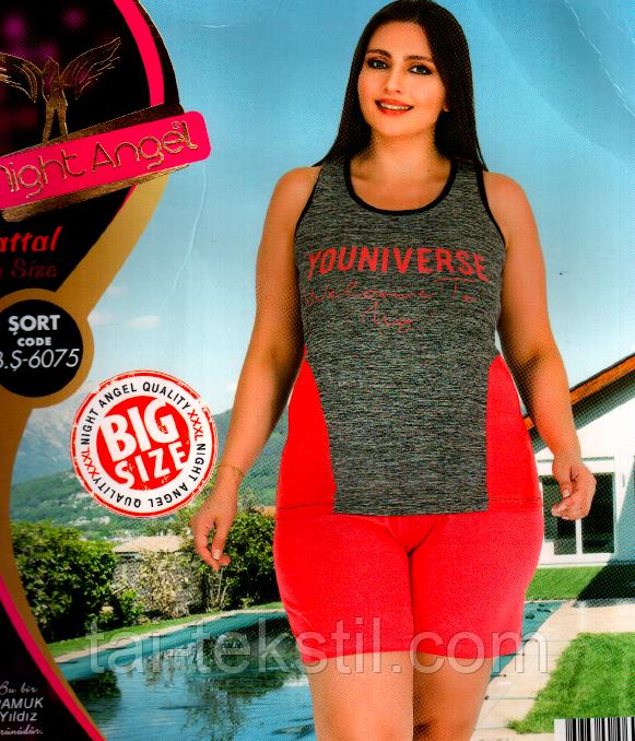 Домашний комплект майка и шорты большого размера 6075