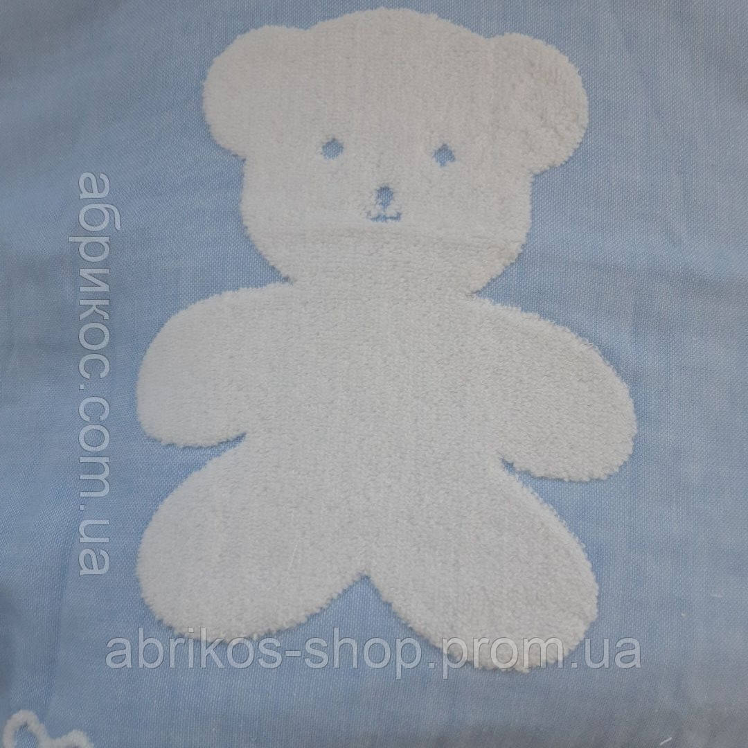 Натуральный хлопковый  плед Мишка  для новорожденных .