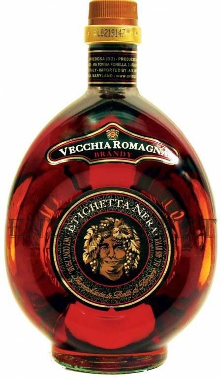 Бренди Vecchia Romagna Etichetta Nera (Веккья Романья Этикетта Нера) 40%, 1 литр