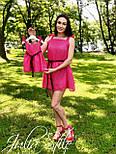 Шифоновое платье для мамы и дочки с пышной юбкой v9457, фото 3