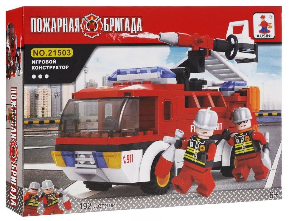 Конструктор Ausini Пожарная бригада 192 дет. (21503)