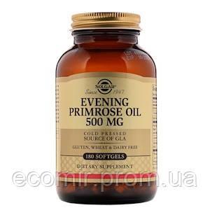 Масло примулы вечерней, Solgar, (500 мг / 180 капсул)