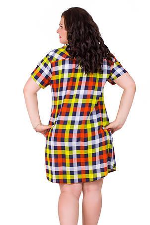 Женское платье в клеточку 1594-1, фото 2