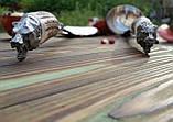 Комплект шумовка/половник  из нержавеющей стали с рукоятью из рога. Ручная работа. Шахрихан/Узбекистан, фото 2
