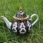 Узбекский чайник Пахта Фарфор. 1л, эконом, фото 3