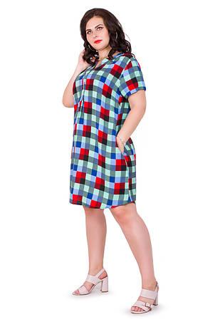 Женское платье в клеточку 1594-3, фото 2