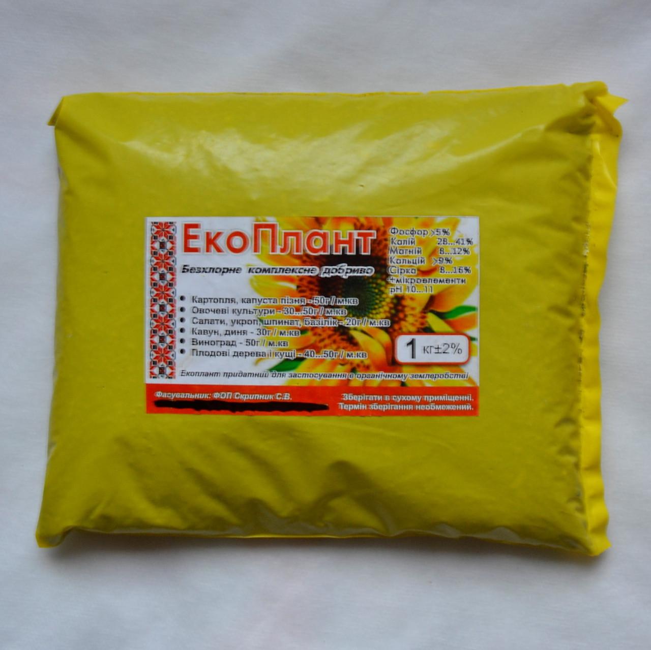 Удобрение ЕкоПлант, 1 кг - P5%, K28%, Mg7%, Ca14%, S25% - (68241088)