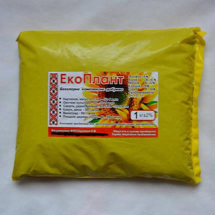 Удобрение ЕкоПлант, 1 кг - P5%, K28%, Mg7%, Ca14%, S25% - (68241088), фото 2
