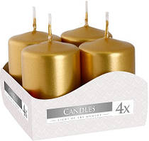 Свеча цилиндр золотая Bispol 6 см 4 шт (sw40/60-213)